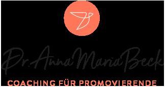 Dr. Anna Maria Beck – Coaching für Promovierende Logo